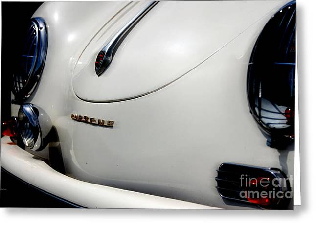 The White Porsche  Greeting Card by Steven Digman