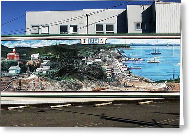 Port Angeles 1914 Mural Greeting Card by David Lee Thompson