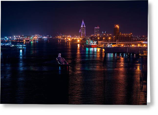Port City Purple Greeting Card