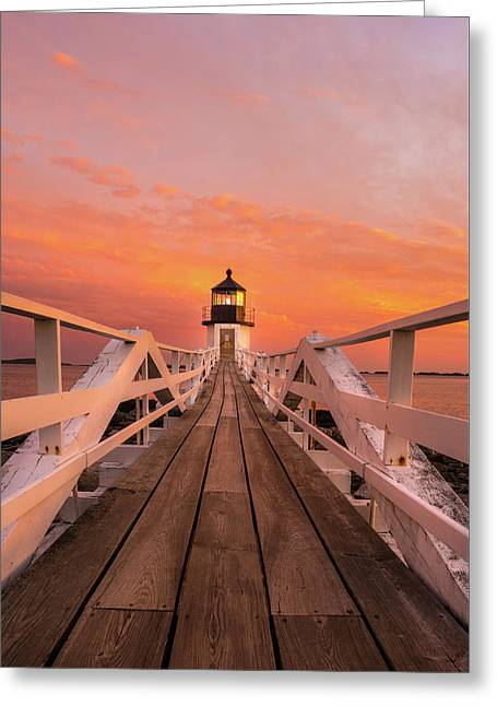 Port Clyde Maine - Marshall Point Greeting Card by Thomas Schoeller