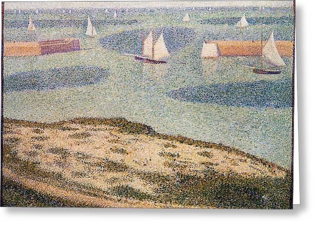 Port-en-bessin, Entrance To The Harbor Greeting Card