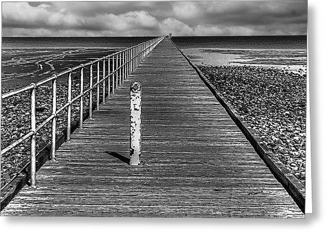 Port Germein Long Jetty Greeting Card