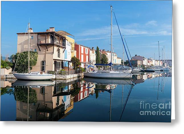 Port Grimaud Port With Yachts Greeting Card by Edoardo Nicolino