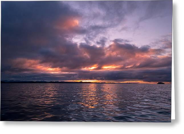 Port Hardy Sunrise Greeting Card