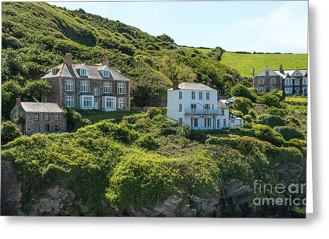Port Isaac Greeting Card by Amanda Elwell