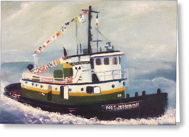 Port Jefferson Greeting Card by Suzanne  Marie Leclair
