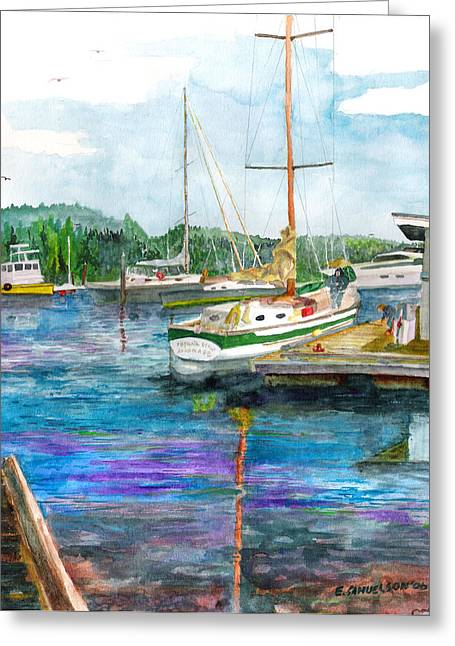 Port Mcneil Bc Greeting Card by Eric Samuelson