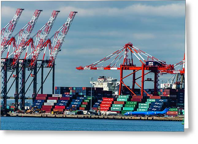 Port Newark Container Terminal Greeting Card