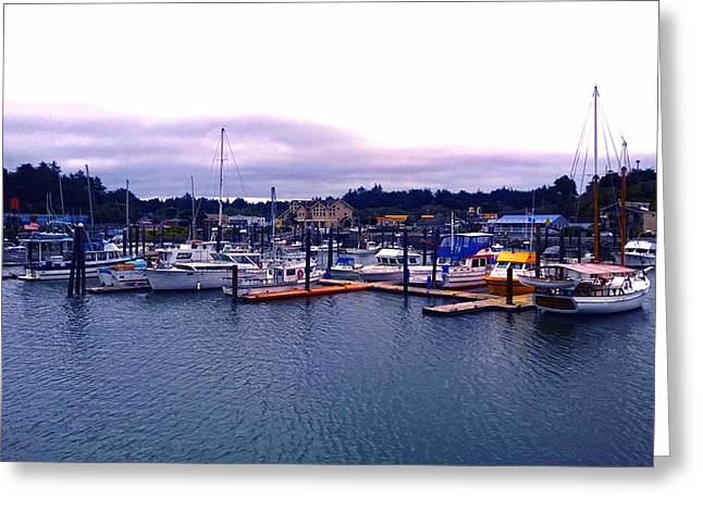 Port Of Bandon Greeting Card