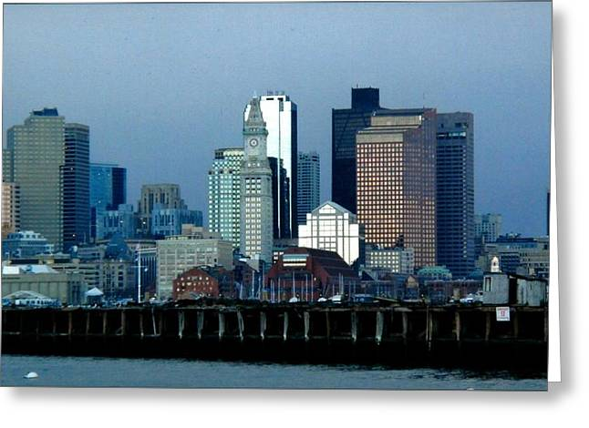 Port Of Boston Greeting Card