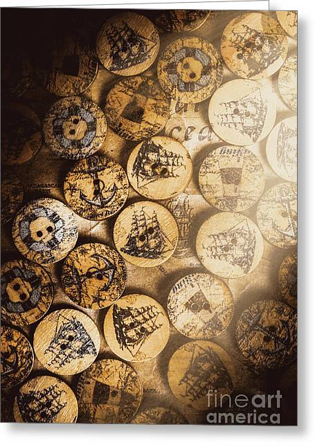 Port Of Corks At The Old Sail Tavern Greeting Card