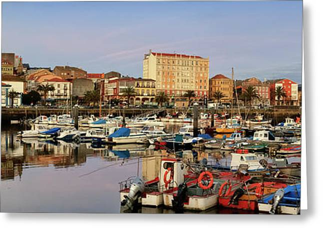 Port Of Ferrol Galicia Spain Greeting Card
