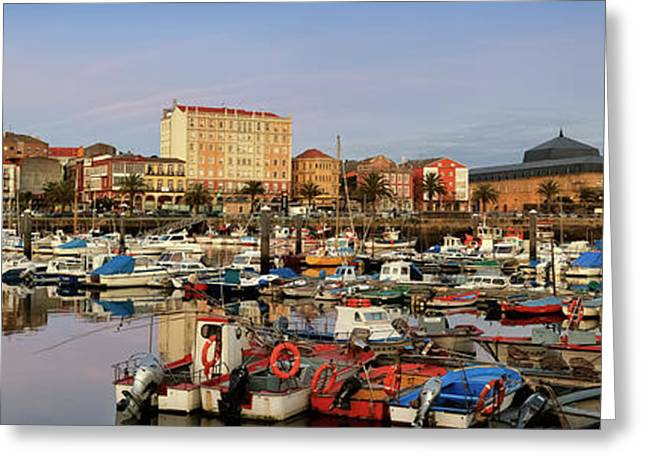 Greeting Card featuring the photograph Port Of Ferrol Galicia Spain by Pablo Avanzini