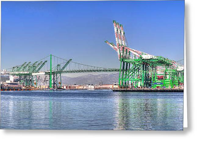 Port Of Los Angeles - Panoramic Greeting Card