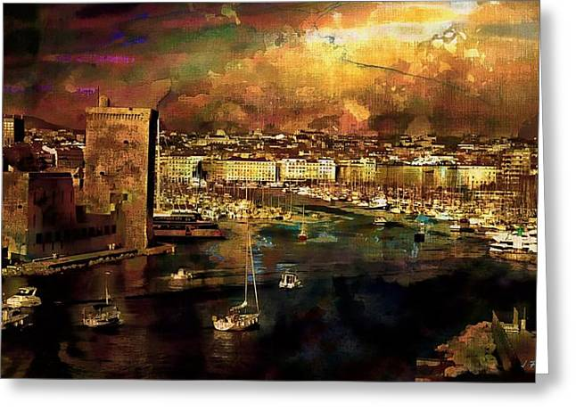The Old Port Of Marseille Greeting Card