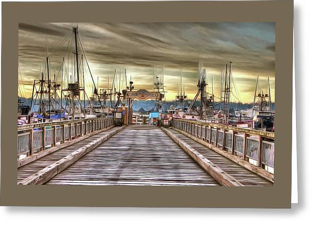 Port Of Newport - Dock 5 Greeting Card