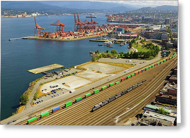 Port Of Vancouver Bc Greeting Card by David Gn