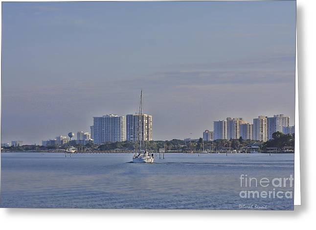 Port Orange Waterway Greeting Card by Deborah Benoit