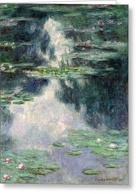 Port-pond With Water Lilies-1907 Greeting Card