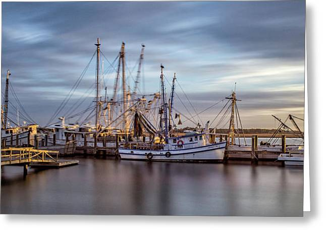 Port Royal Shrimp Boats Greeting Card