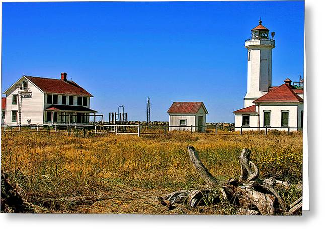 Greeting Card featuring the painting Port Townsend by Larry Darnell