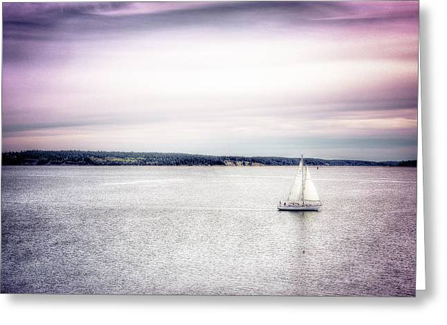 Port Townsend Sailboat Greeting Card by Spencer McDonald