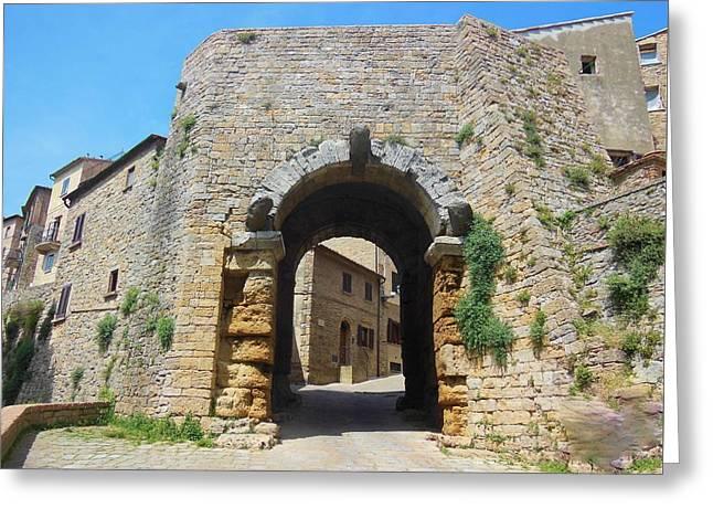 Porta All' Arco Volterra Greeting Card