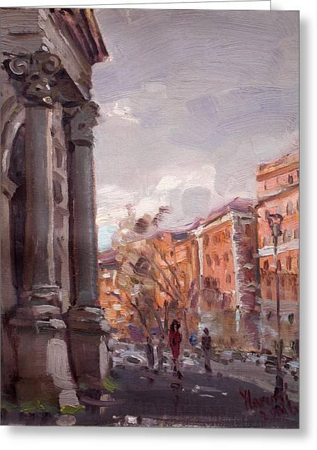 Porta Pia Rome Greeting Card by Ylli Haruni