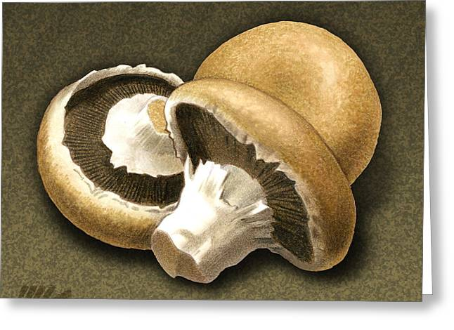 Portabello Mushrooms Greeting Card by Marshall Robinson