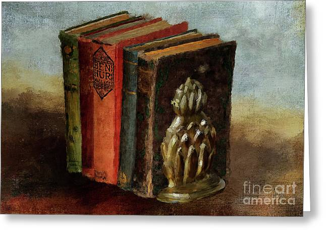Greeting Card featuring the digital art Portable Magic by Lois Bryan