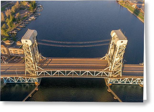 Portage Canal Lift Bridge 2 Greeting Card