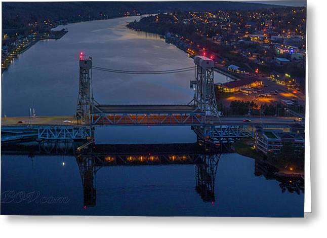 Portage Canal Lift Bridge 3 Greeting Card