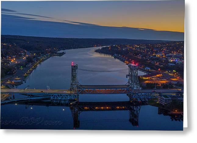 Portage Canal Lift Bridge 4 Greeting Card