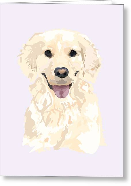 Portait Of A Golden Greeting Card