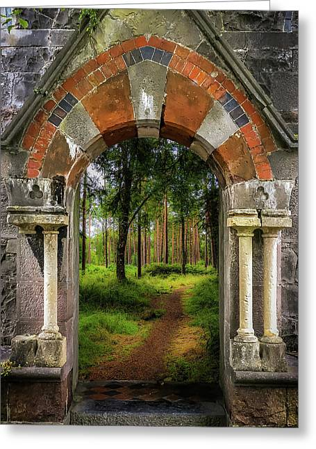 Greeting Card featuring the photograph Portal To Portumna Forest by James Truett