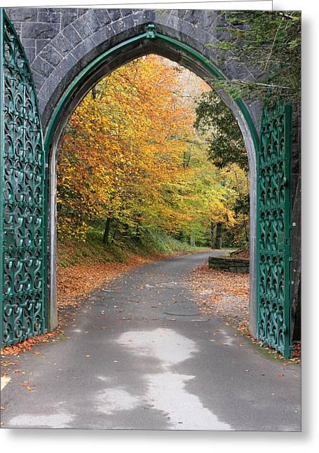 Portal To The Colorful Autumn Season Greeting Card