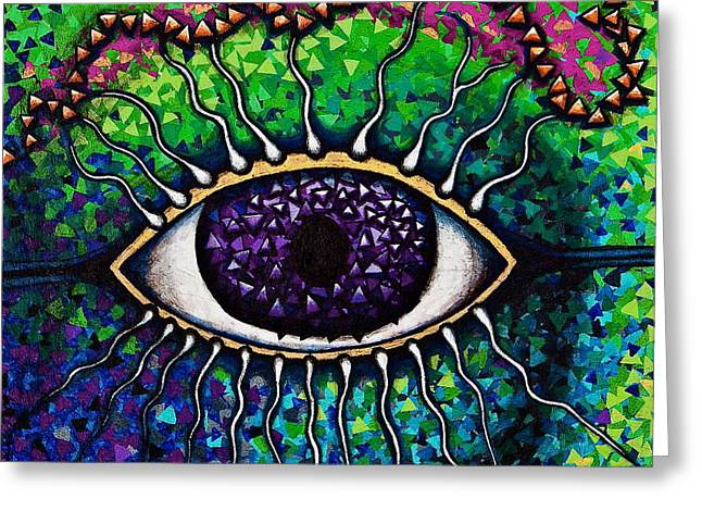 Portal To Your Subconscious Greeting Card by Veronika Rose