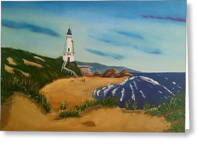 Portalington Light House  Greeting Card by Robert Convery