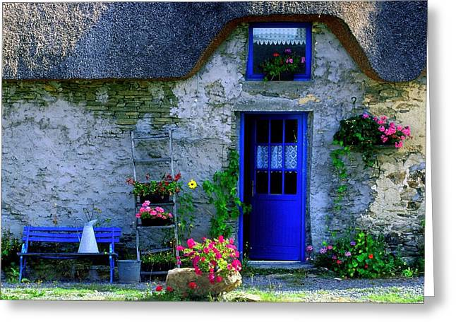 Porte Bleue Greeting Card