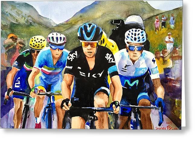Porte Quintana Froome And Nibali Greeting Card