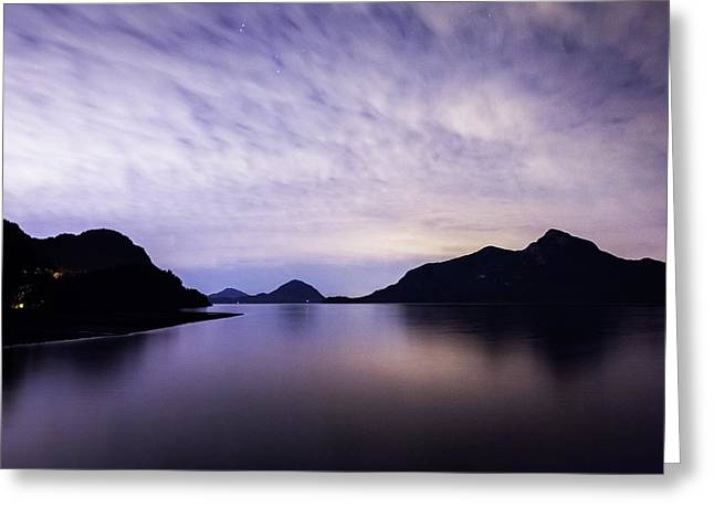 Porteau Cove At Night 1 Greeting Card by Art Calapatia