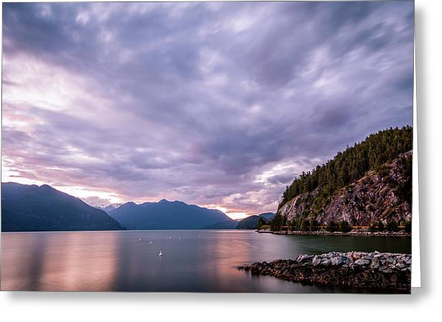 Porteau Cove At Night 2 Greeting Card by Art Calapatia