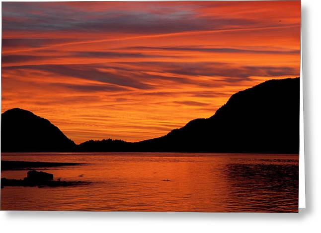 Porteau Cove Glow Greeting Card by Monte Arnold