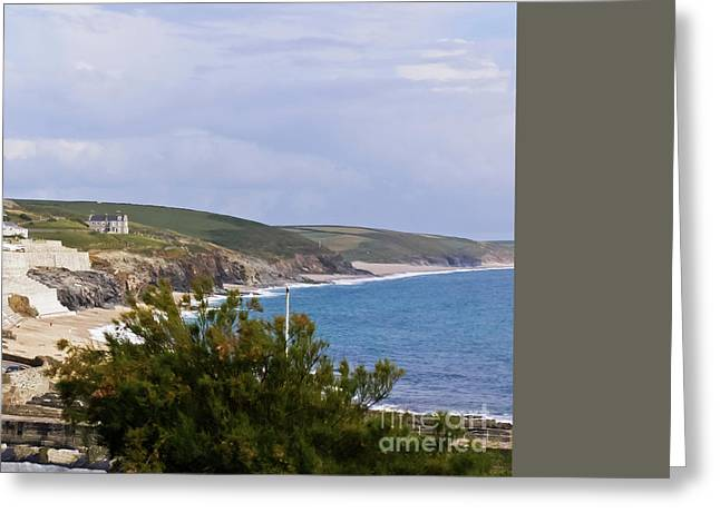 Porthleven And Loe Bar Greeting Card by Terri Waters