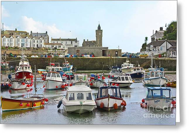 Porthleven Inner Harbour Greeting Card