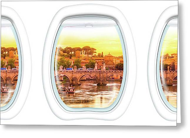 Porthole Windows On Rome Greeting Card