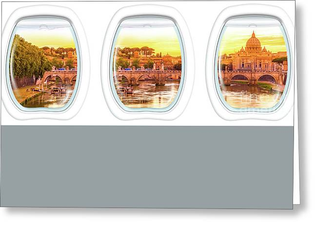 Porthole Windows On Rome Greeting Card