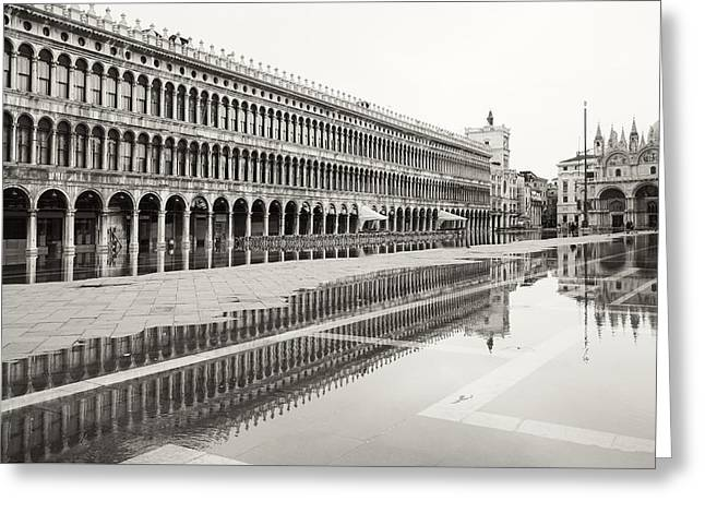 Portici Nell'acqua 2130x Greeting Card by Marco Missiaja