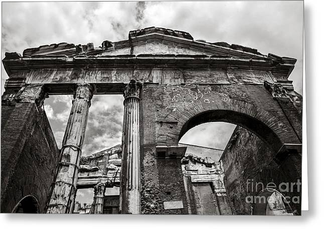 Porticus Octaviae In Rome Greeting Card by Diane Diederich
