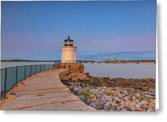 Portland Breakwater Light Greeting Card